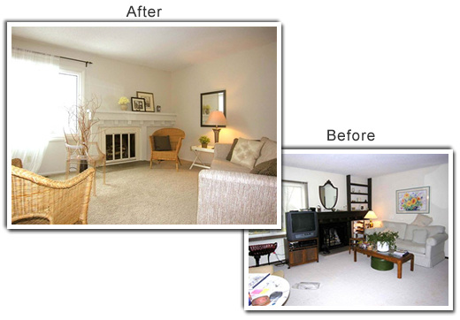 Home Staging of a home in Bloomington, MN