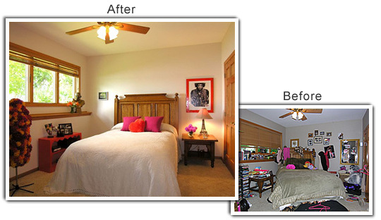 Home Staging of a home in Burnsville, MN