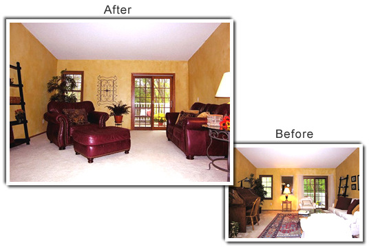 Home Staging of a home in Chanhassen, MN