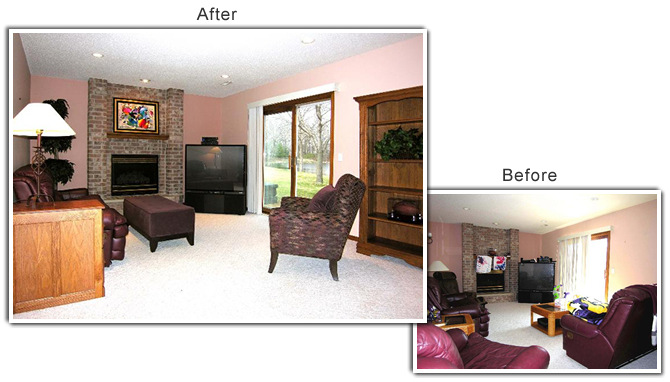 Home Staging of a home in Chaska, MN