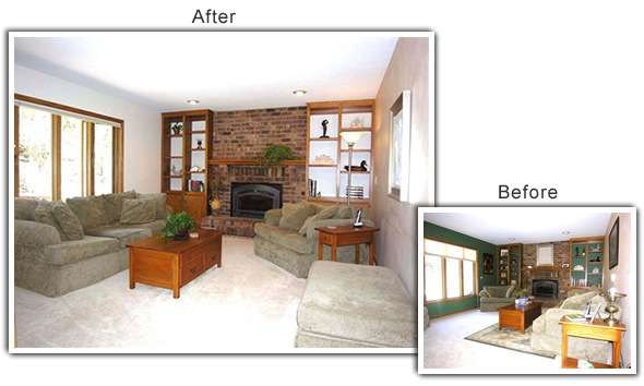 Home Staging of a home in Eden Prairie, MN