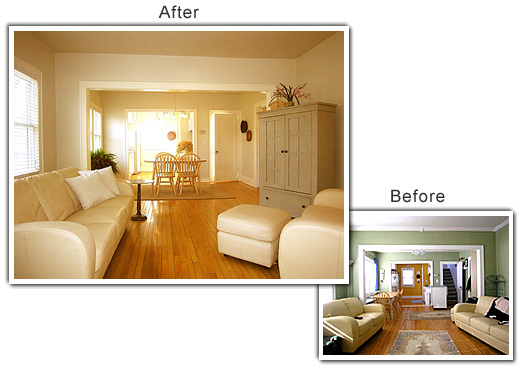 Home Staging of a Family Room in Excelsior, MN