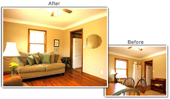 Home Staging Of A In Mounds View MN
