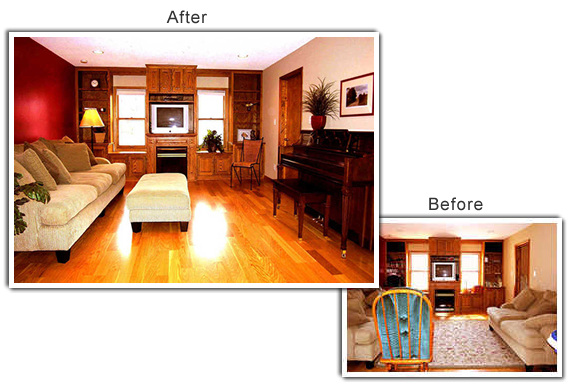 Home Staging of a home in Mounds View, MN
