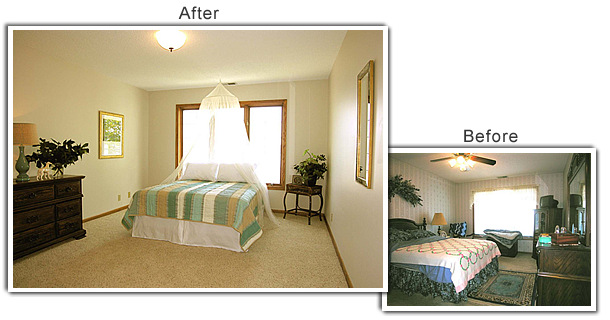 Home staging photo gallery for Before and after staging